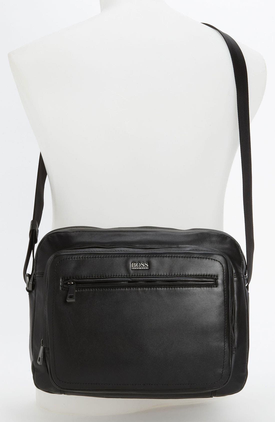 Alternate Image 4  - BOSS Black 'Klondie' Messenger Bag