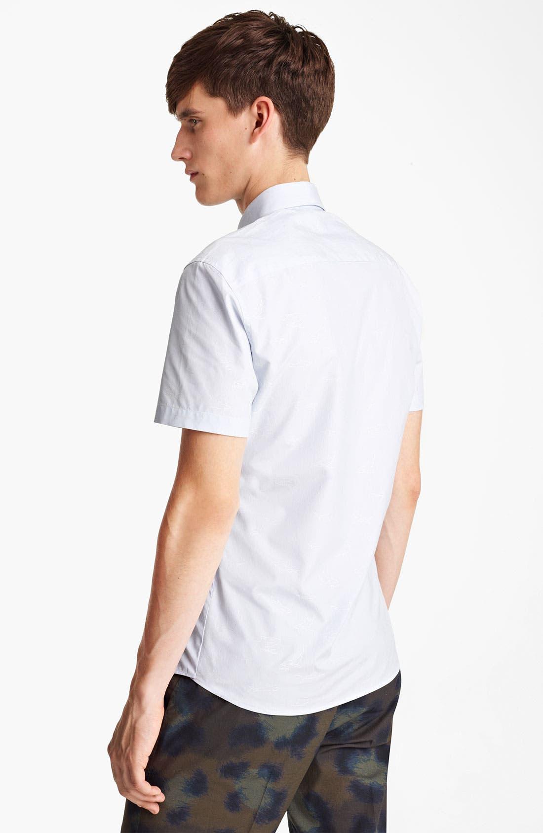 Alternate Image 2  - KENZO Shark Print Woven Shirt