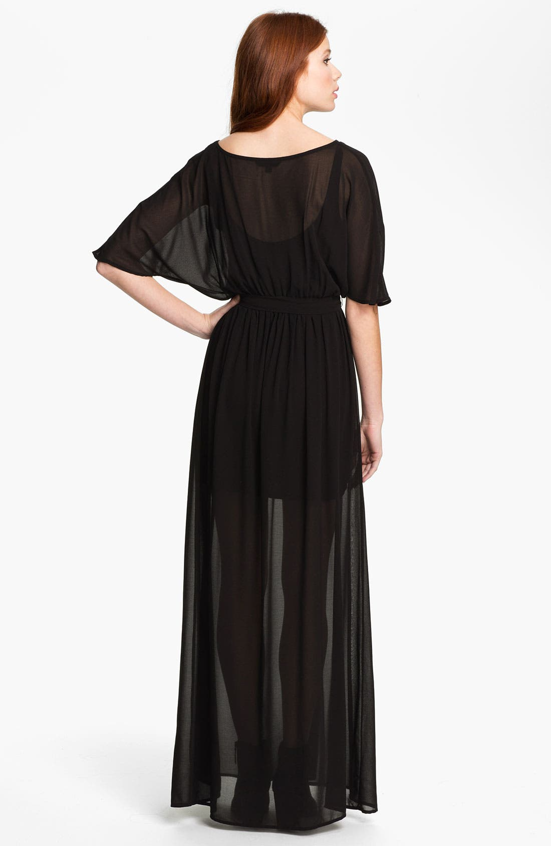 Alternate Image 2  - Felicity & Coco Sheer Overlay Faux Wrap Maxi Dress (Nordstrom Exclusive)