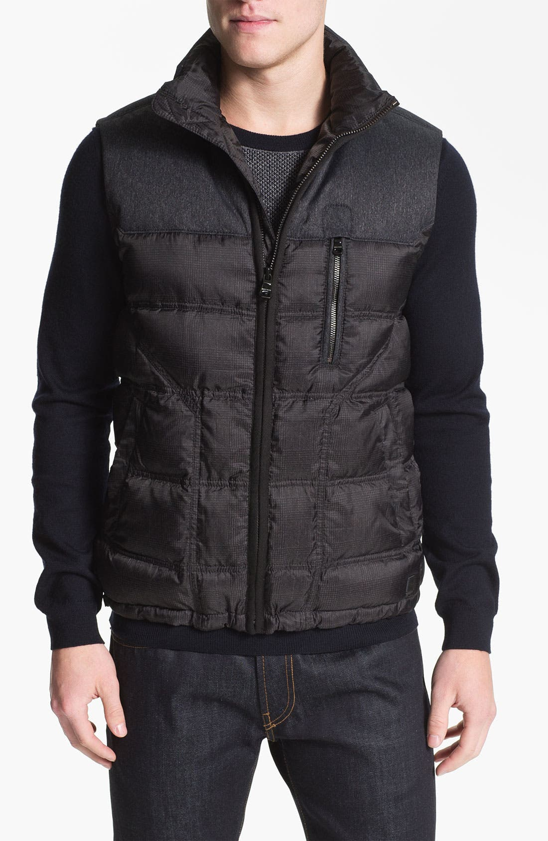 Main Image - BOSS Black 'Darnom' Quilted Down Vest