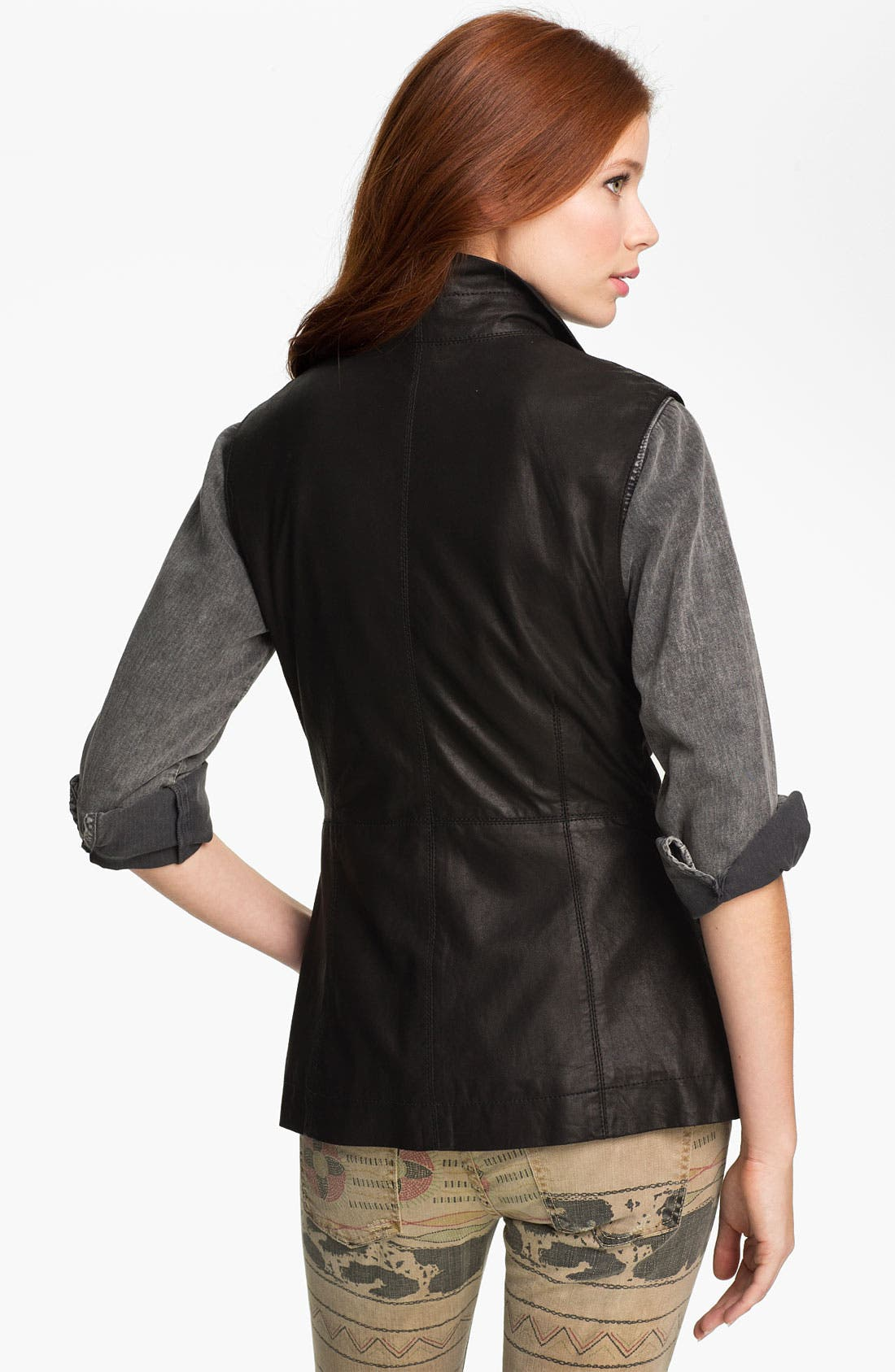 Alternate Image 2  - Kenna-T Leather Vest
