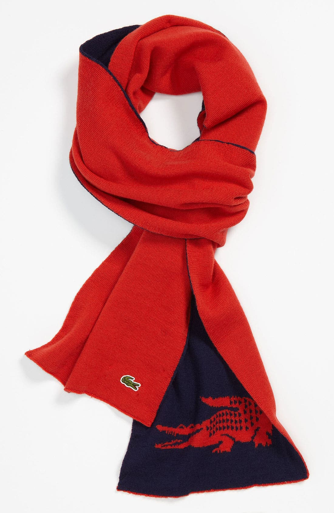 Alternate Image 1 Selected - Lacoste 'Intarsia' Wool Scarf