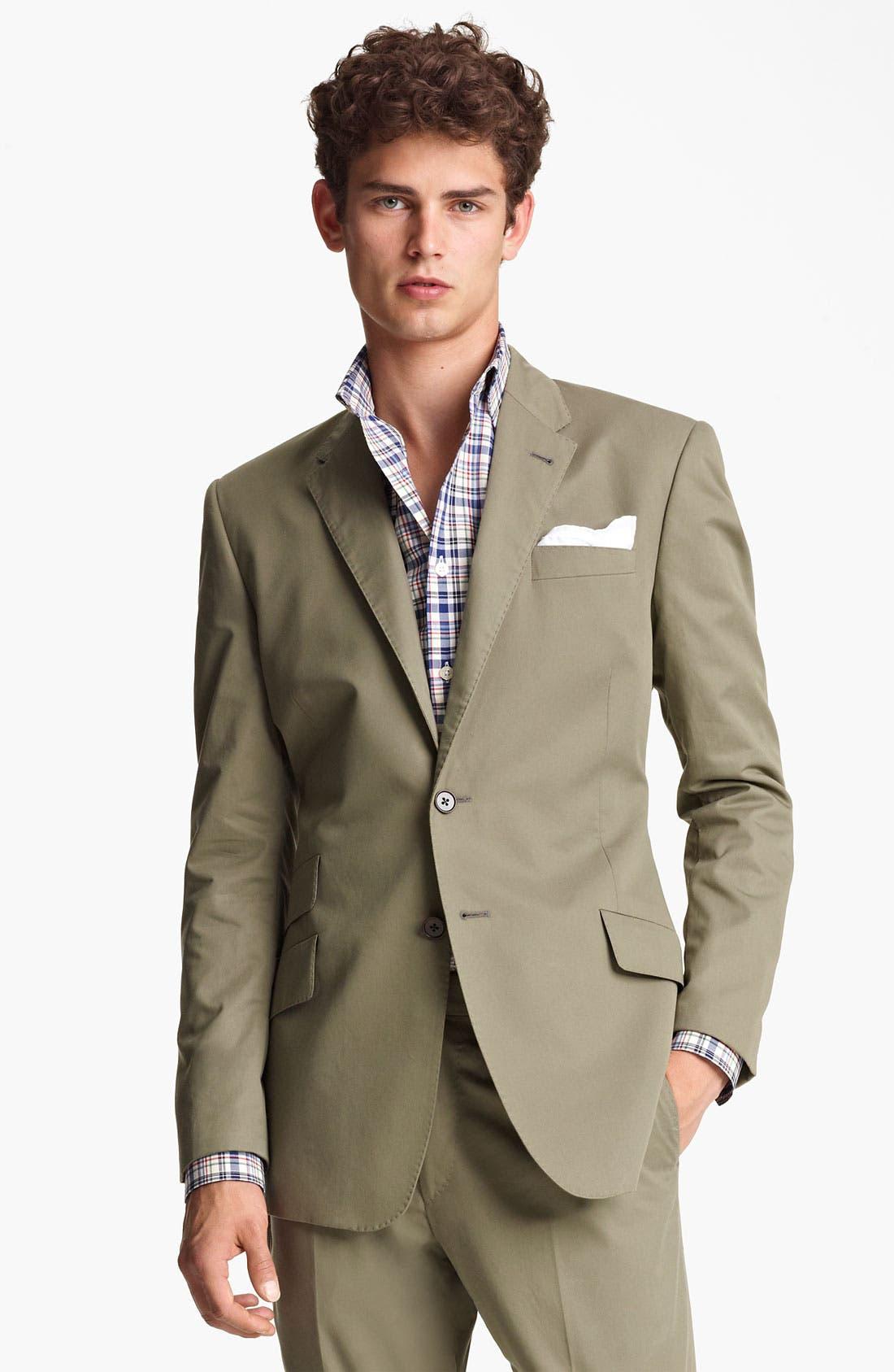 Alternate Image 1 Selected - Paul Smith London Slim Fit Cotton Suit