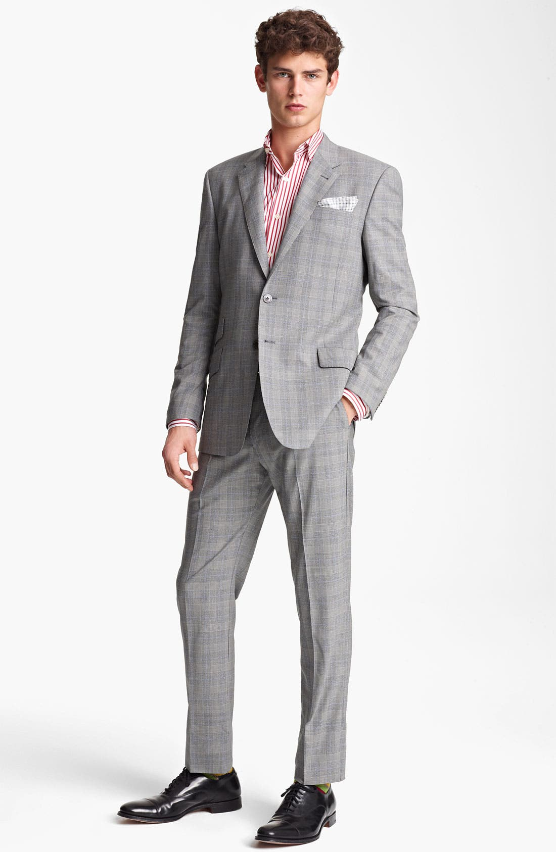 Alternate Image 2  - Paul Smith London Slim Fit Glen Plaid Wool Suit