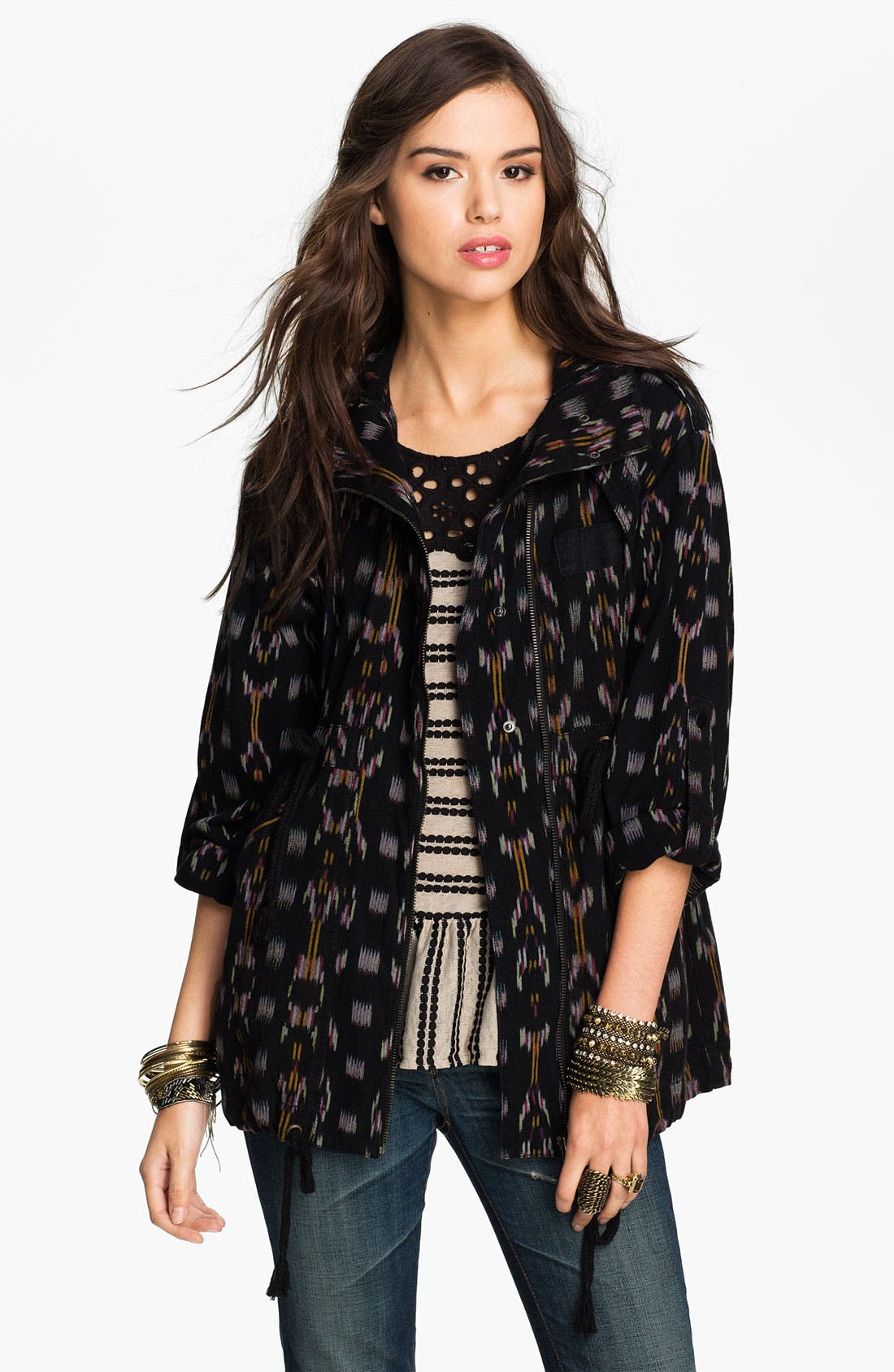 Alternate Image 1 Selected - Free People Ikat Utility Jacket