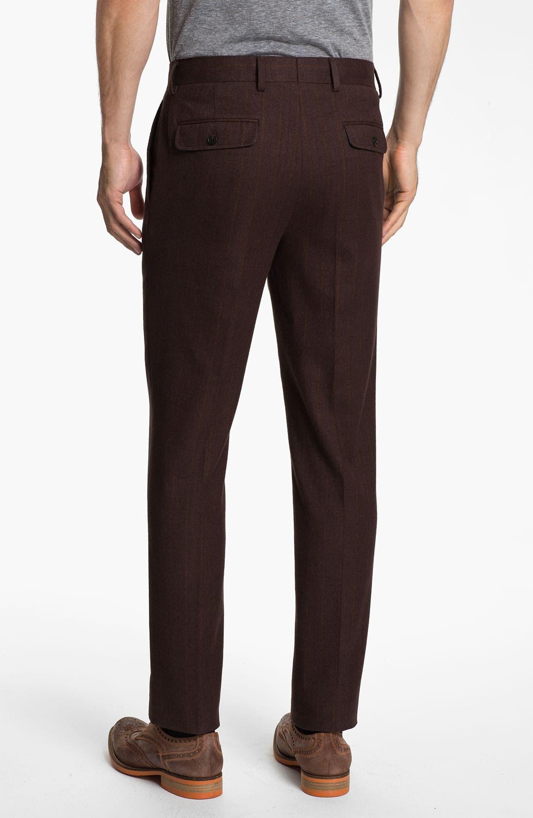 Alternate Image 2  - 1901 Slim Pleated Trousers