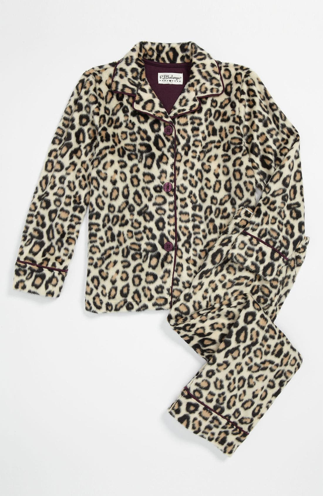 Alternate Image 1 Selected - PJ Salvage Plush Pajama Set (Little Girls & Big Girls)
