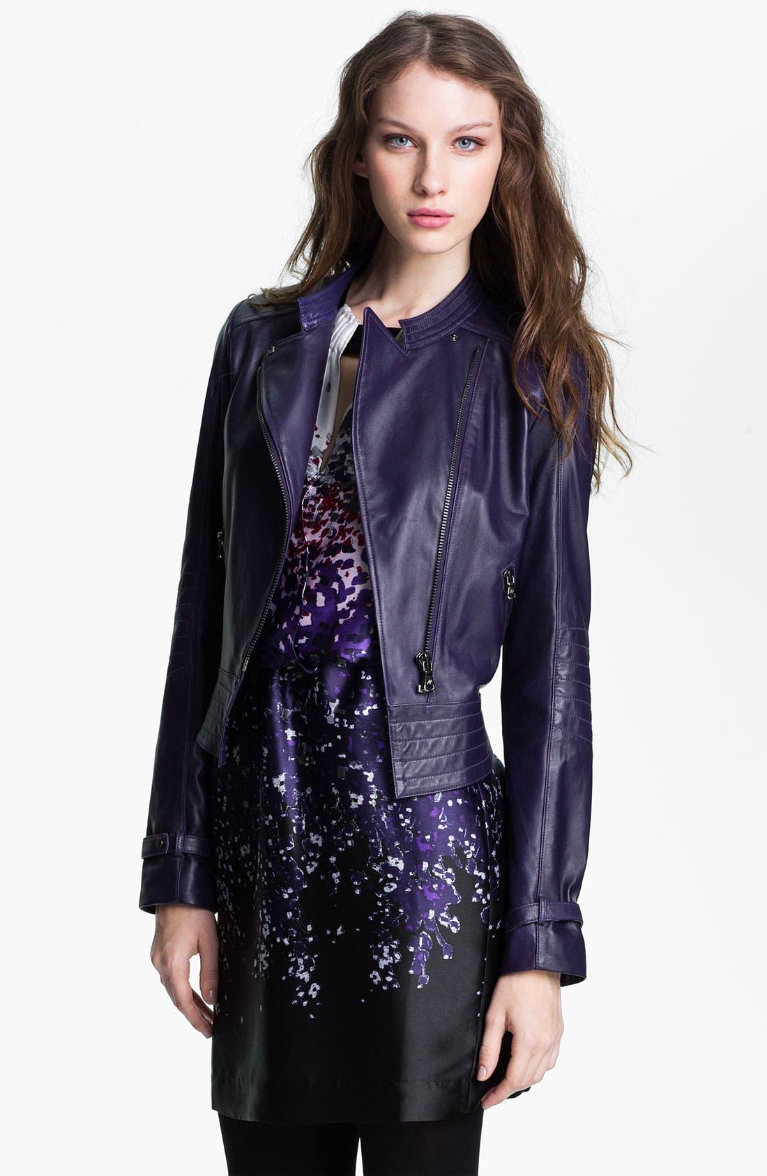 Alternate Image 1 Selected - Kenneth Cole New York 'Maria' Metallic Leather Jacket