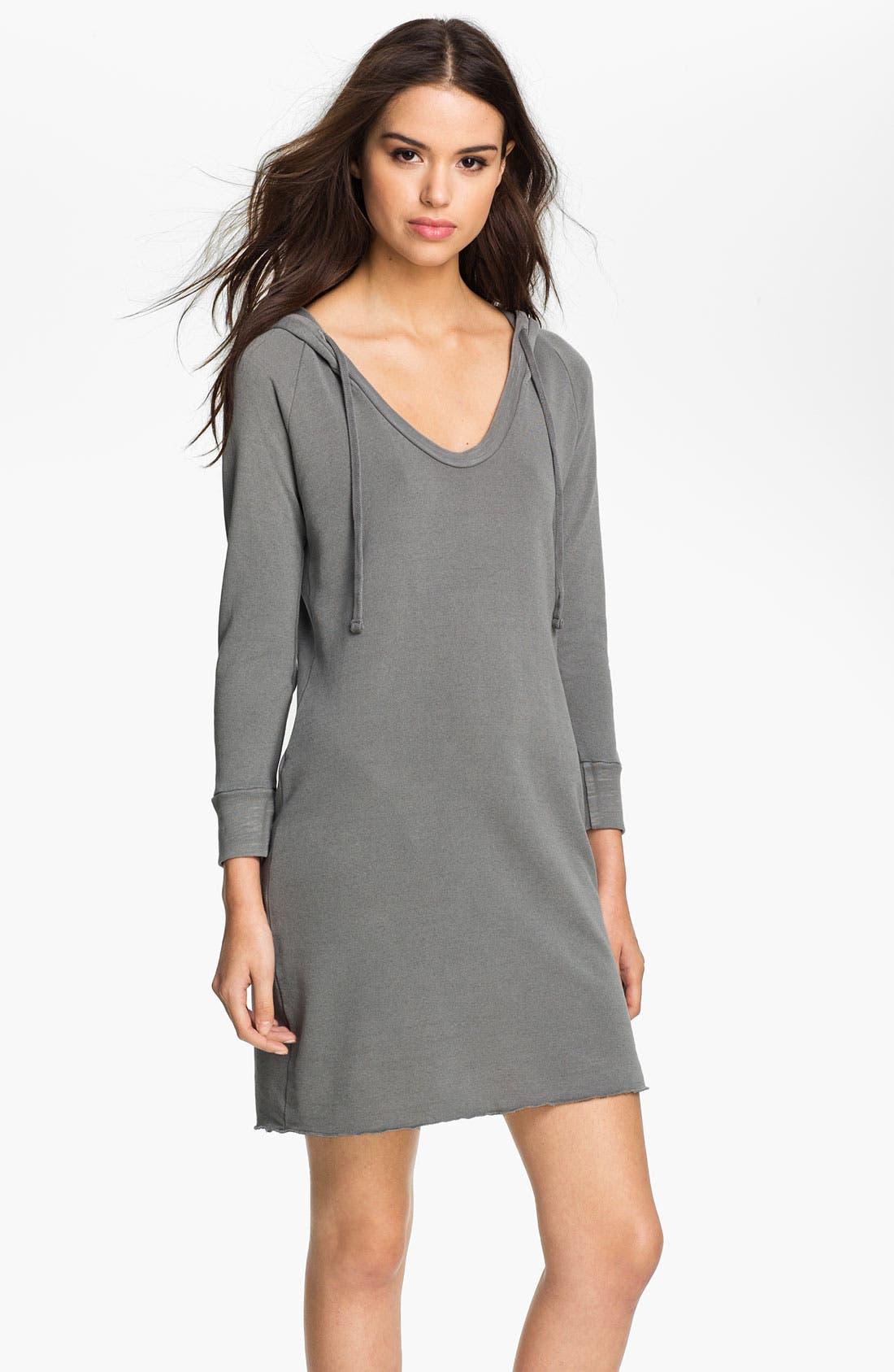 Main Image - James Perse Hooded Sweatshirt Dress