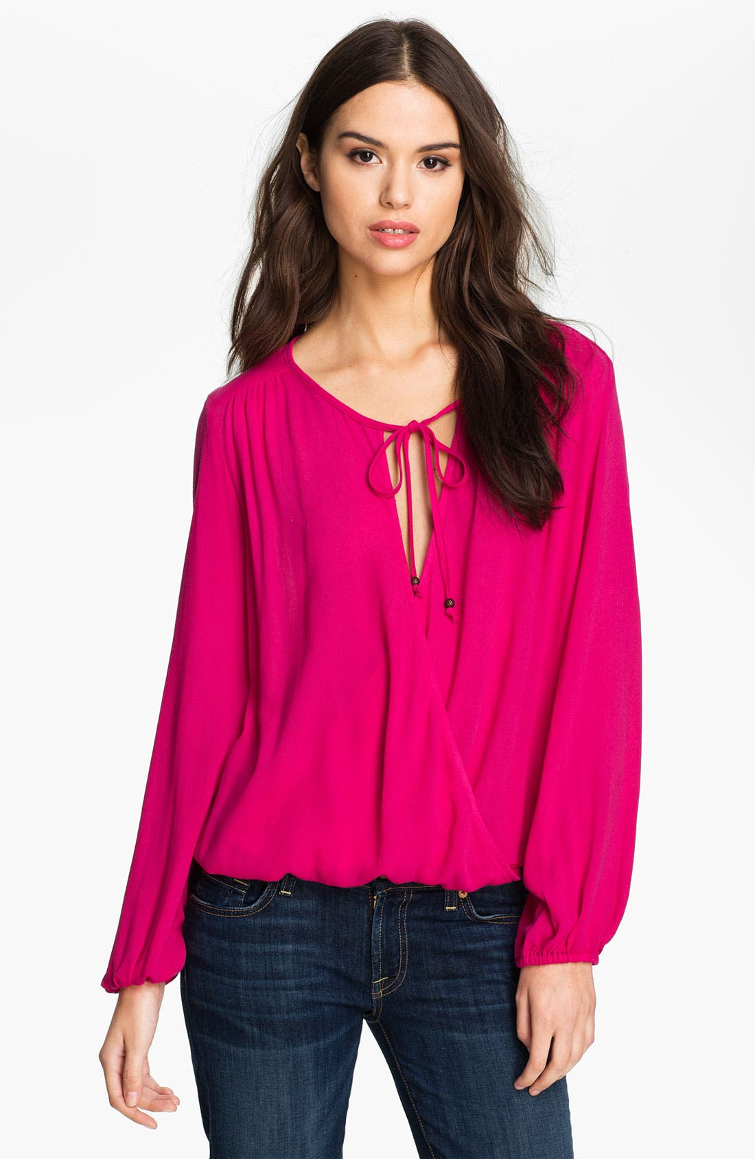 Main Image - Ella Moss 'Stella' Tie Neck Surplice Top