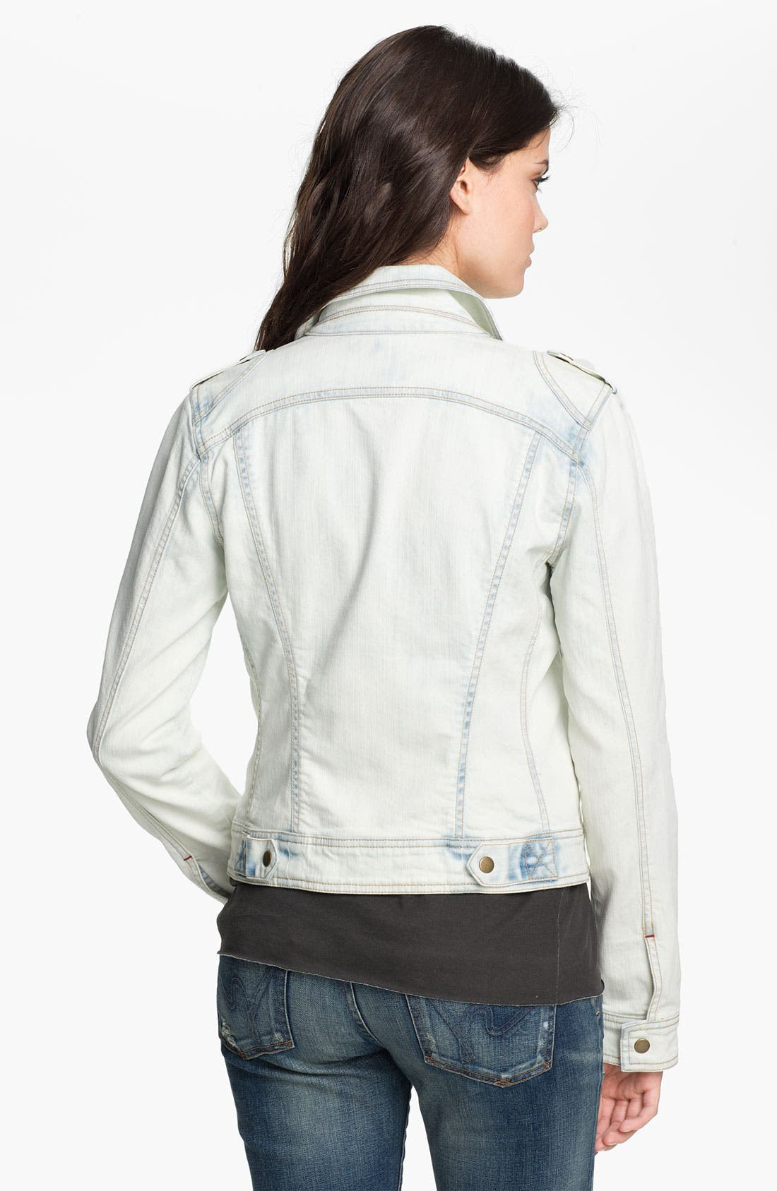 Alternate Image 2  - Sanctuary 'Desert Rider' Denim Biker Jacket