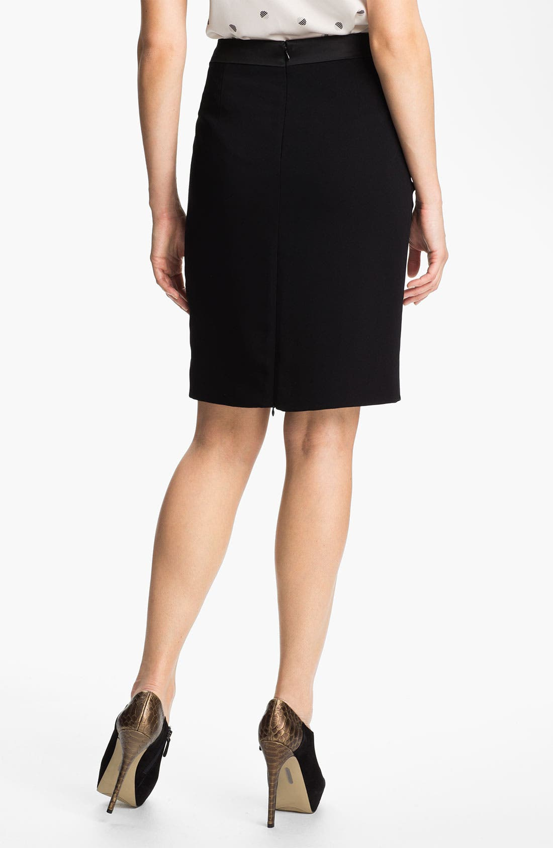 Alternate Image 2  - Anne Klein Tuxedo Skirt (Petite)