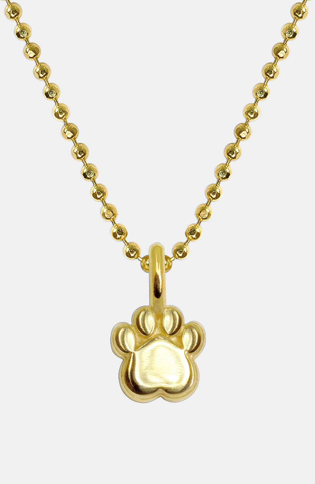 Alternate Image 1 Selected - Alex Woo 'Mini Paw' 14k Gold Pendant Necklace