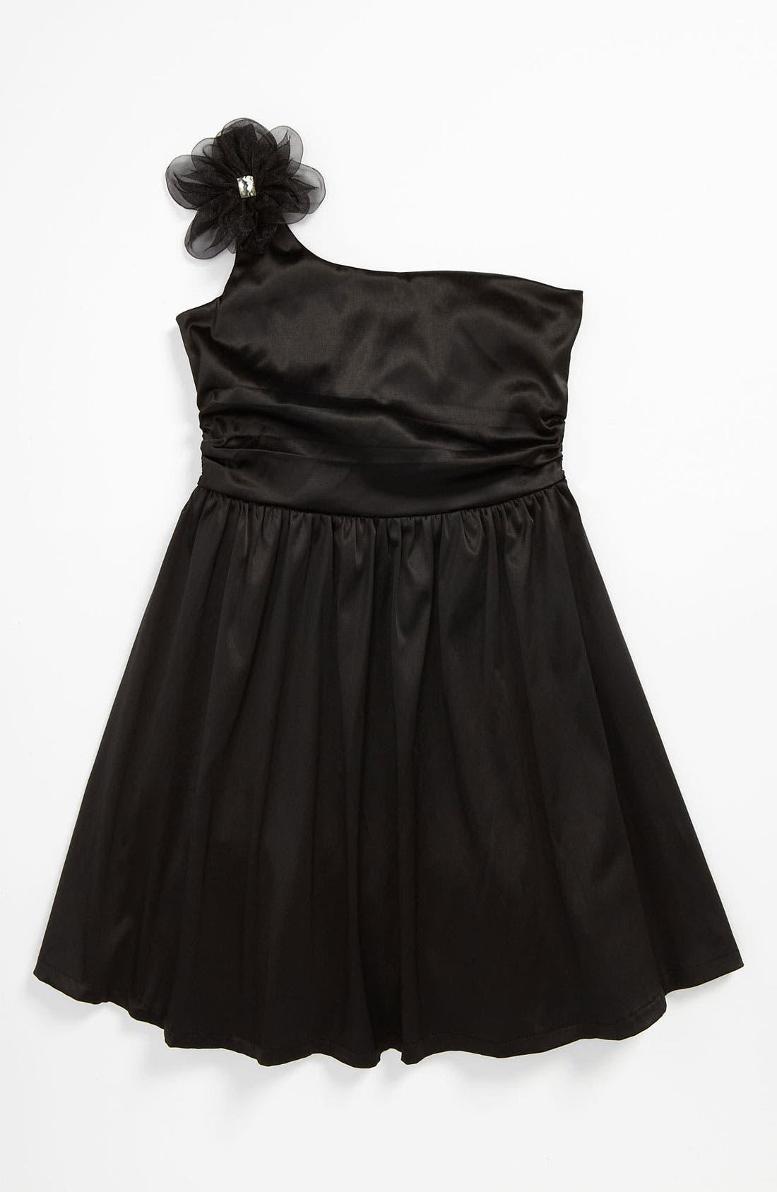 Main Image - Ruby Rox One Shoulder Dress (Big Girls)
