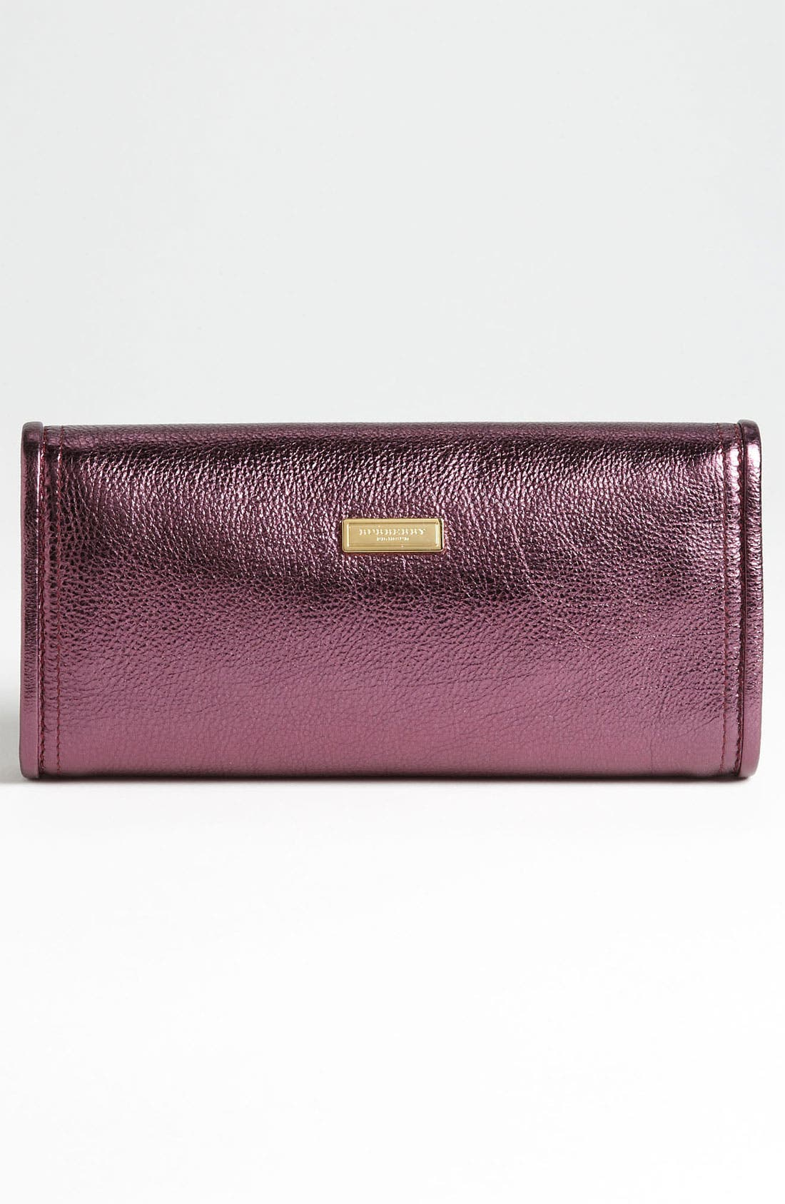 Alternate Image 4  - Burberry 'Mayfield' Metallic Leather Clutch