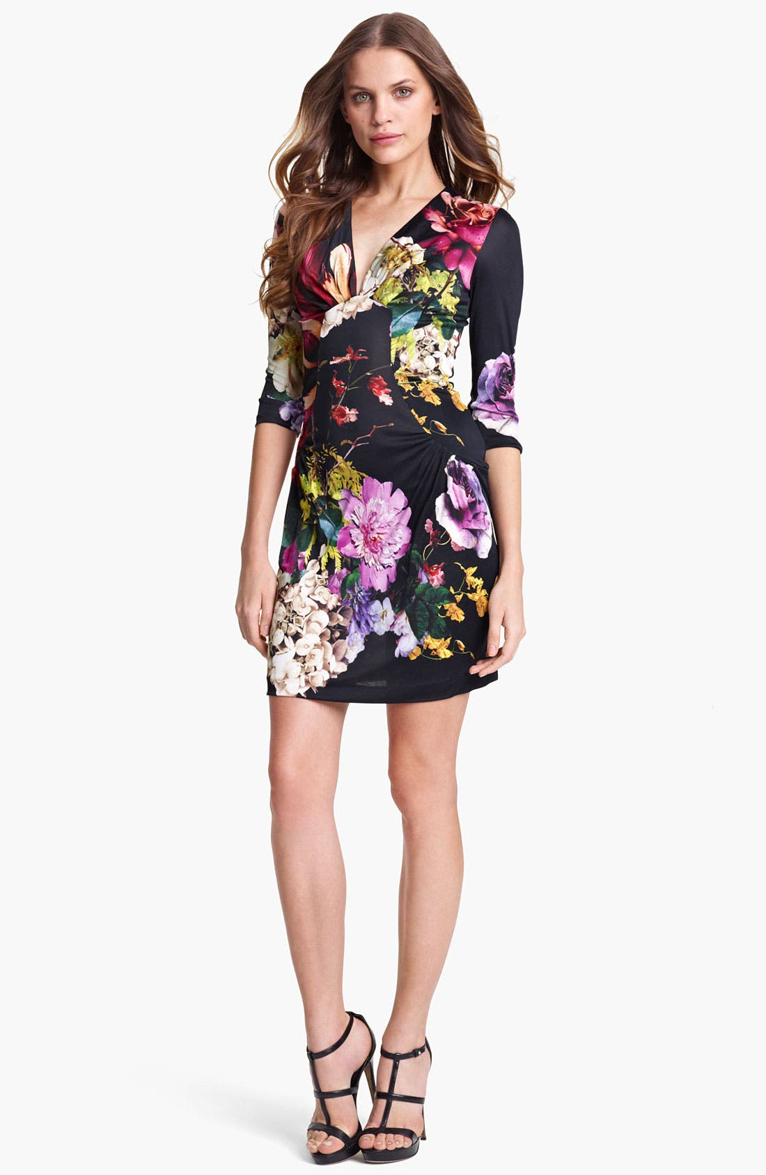 Main Image - Roberto Cavalli 'Armoise Print' Ruched Jersey Dress
