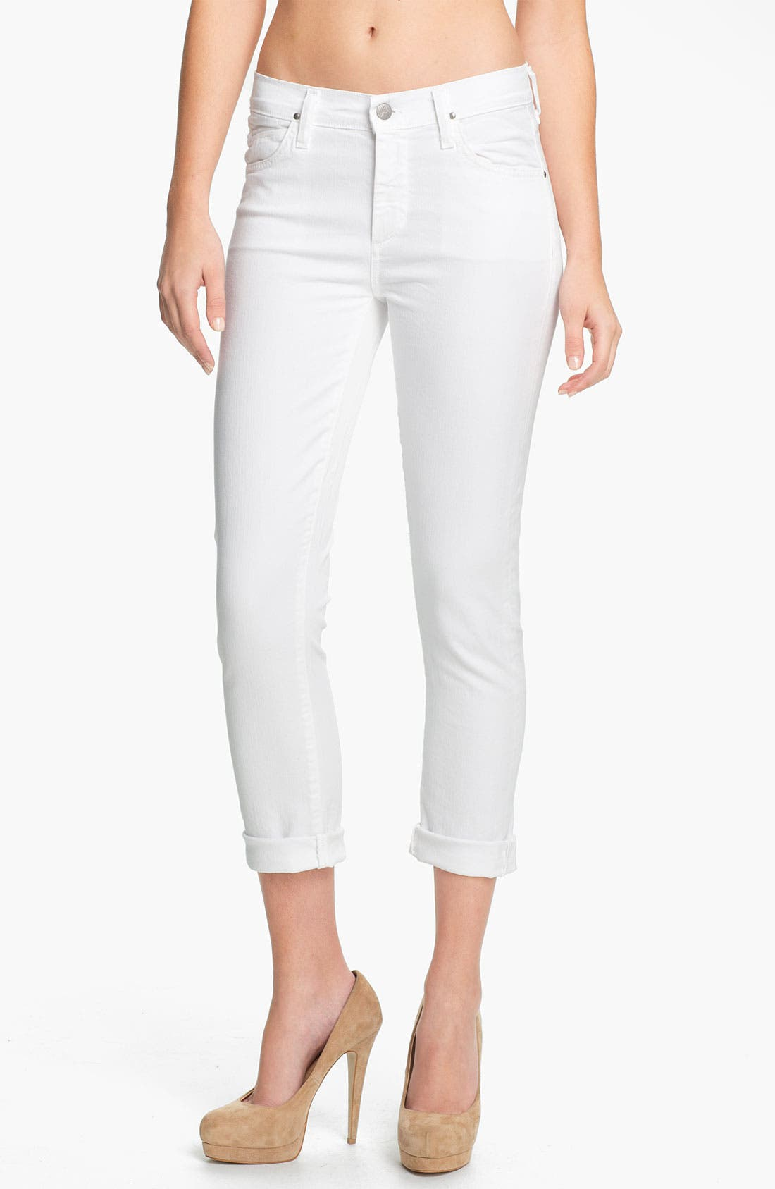 Main Image - Citizens of Humanity 'Carlton' High-Waist Slim Straight Leg Ankle Jeans (Santorini)