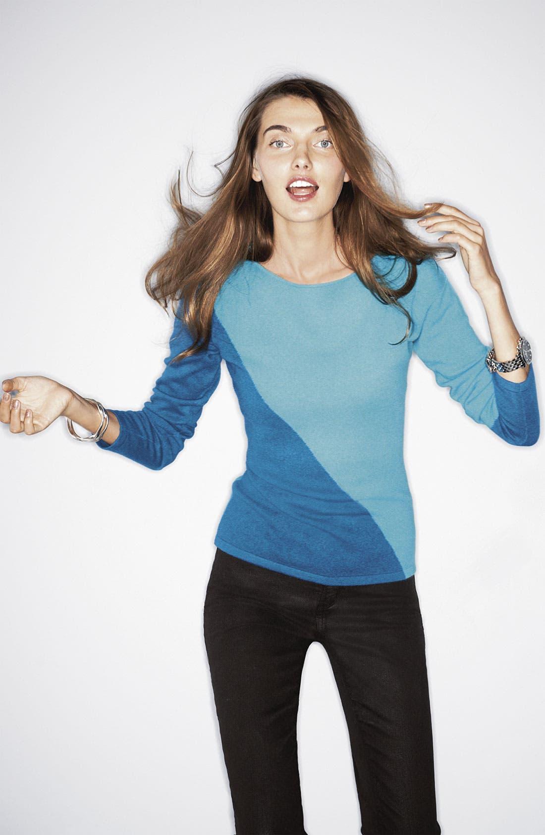 Alternate Image 4  - Lauren Hansen Colorblock Cashmere Sweater