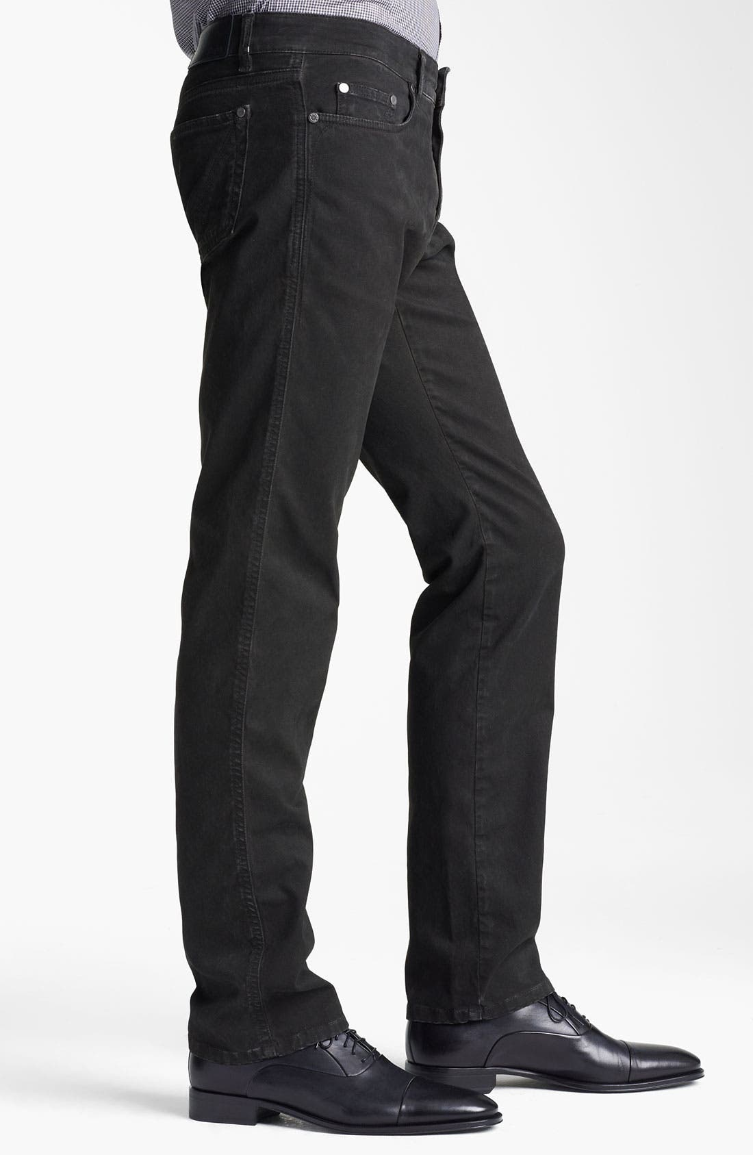 Alternate Image 3  - Z Zegna Straight Leg Jeans (Coated Black)