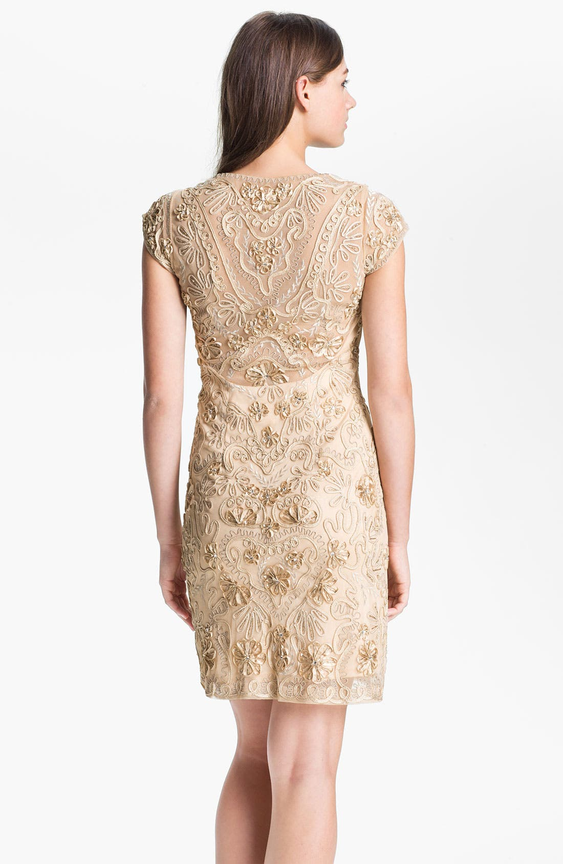 Alternate Image 2  - Sue Wong Embellished Illusion Back Sheath Dress