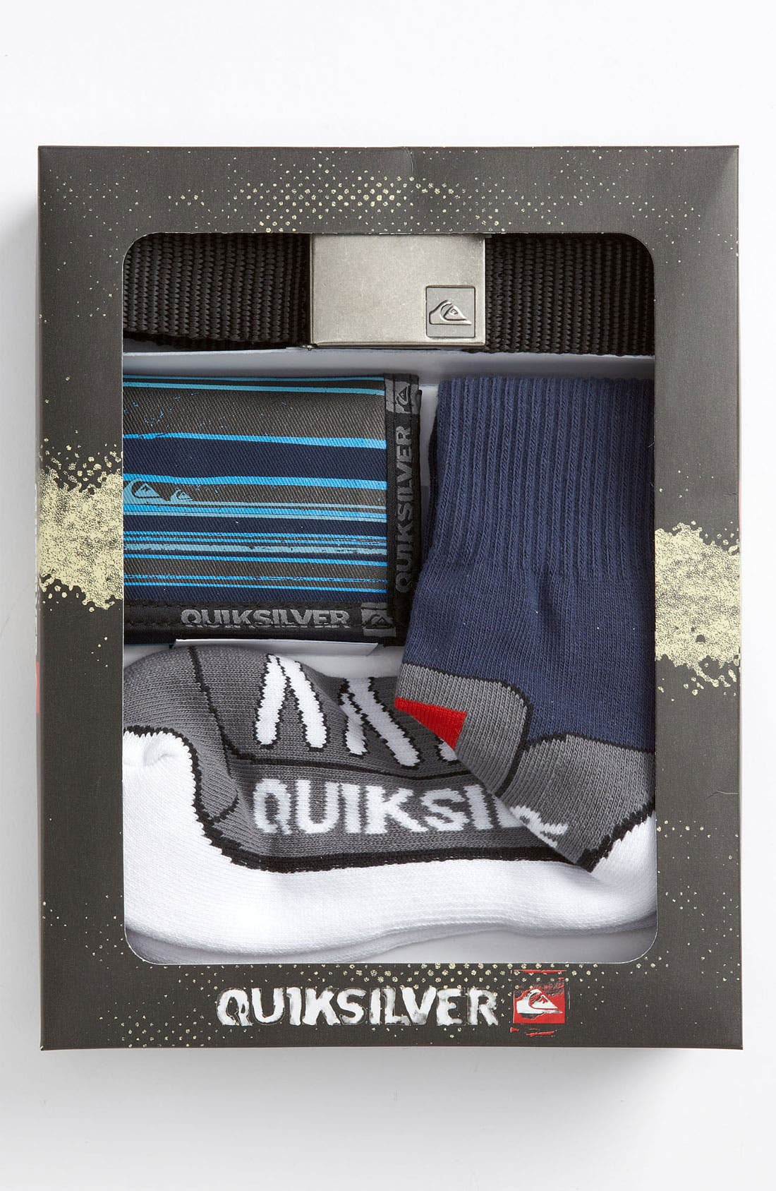 Alternate Image 2  - Quiksilver Belt, Wallet & Socks Gift Pack (Big Boys)