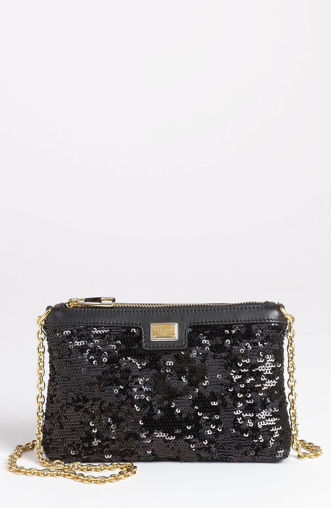 Main Image - Dolce&Gabbana 'Miss Mini' Sequin Crossbody Bag