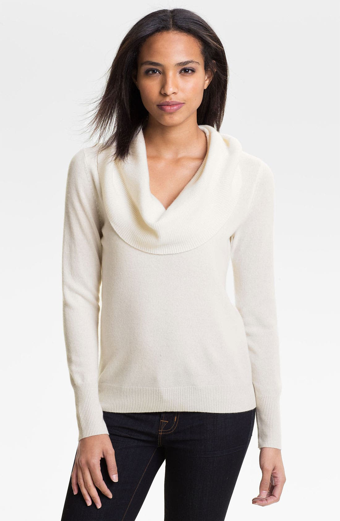 Alternate Image 1 Selected - Halogen® Cowl Neck Cashmere Sweater