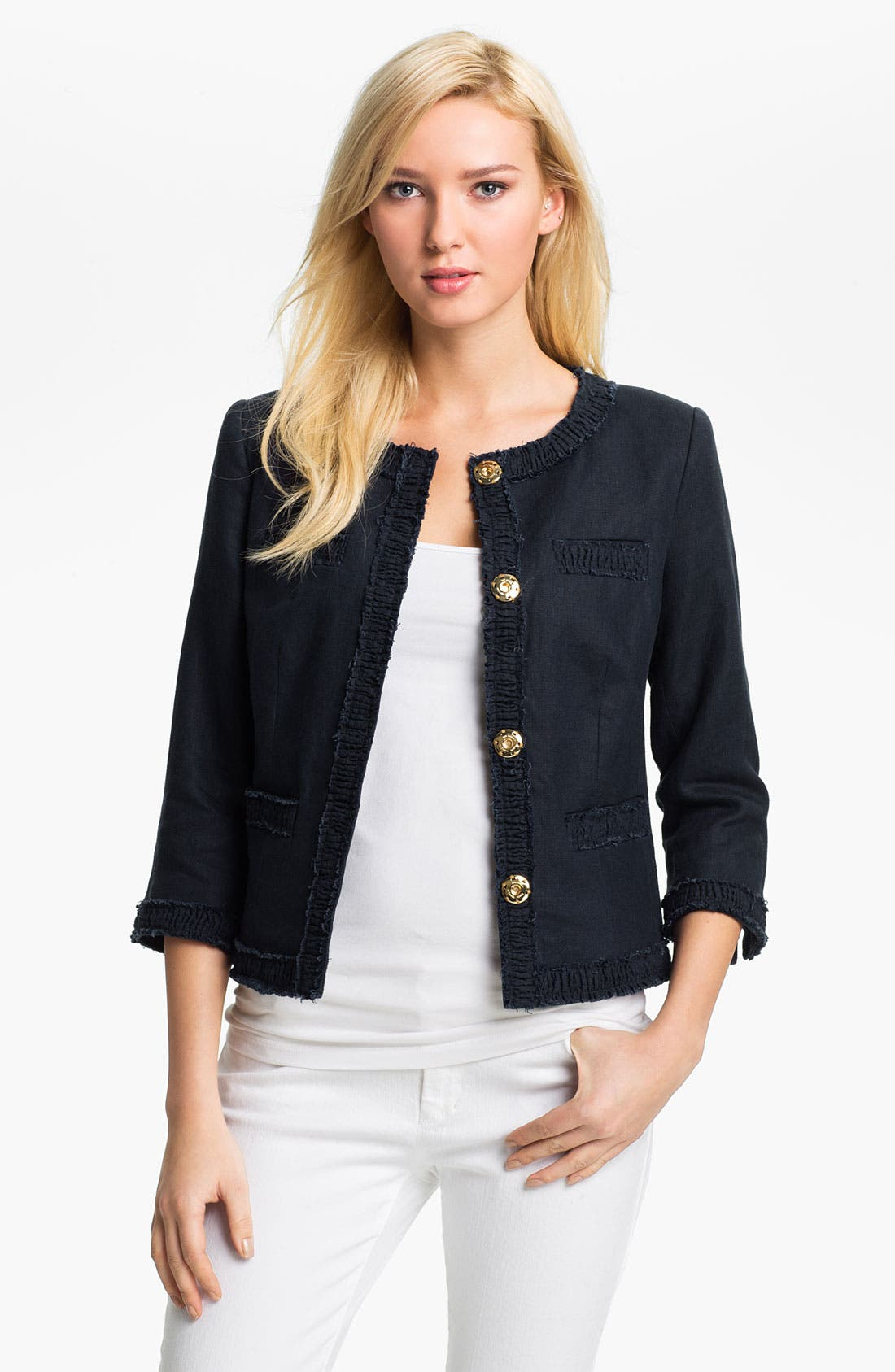Alternate Image 1 Selected - MICHAEL Michael Kors Linen Jacket