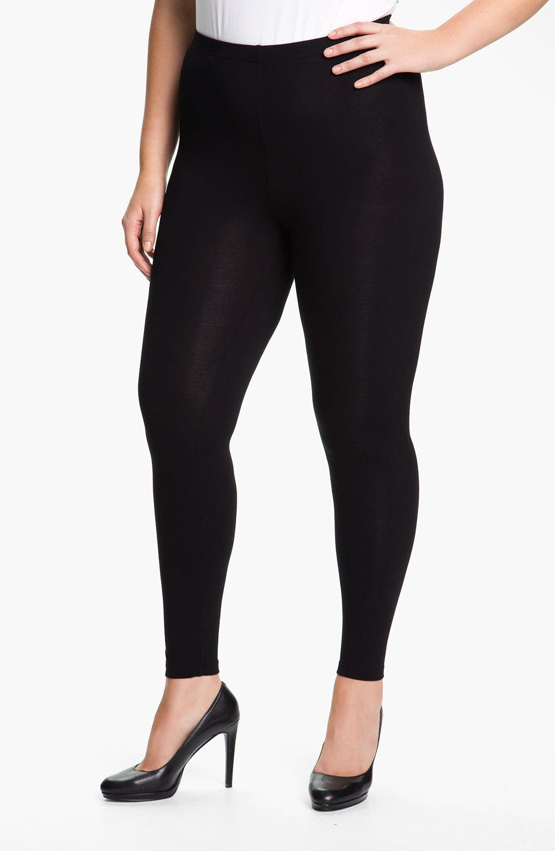 Alternate Image 1 Selected - Sejour Leggings (Plus)