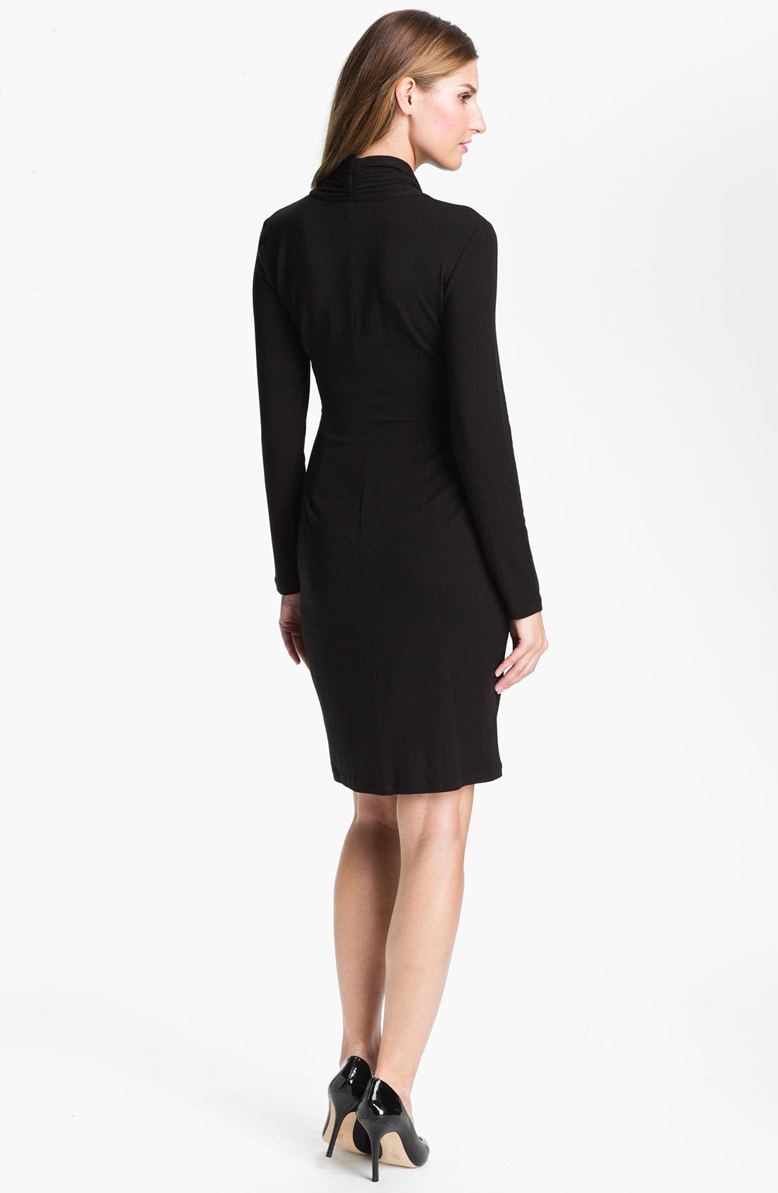 Alternate Image 2  - Karen Kane Shirred Faux Wrap Dress (Online Exclusive)