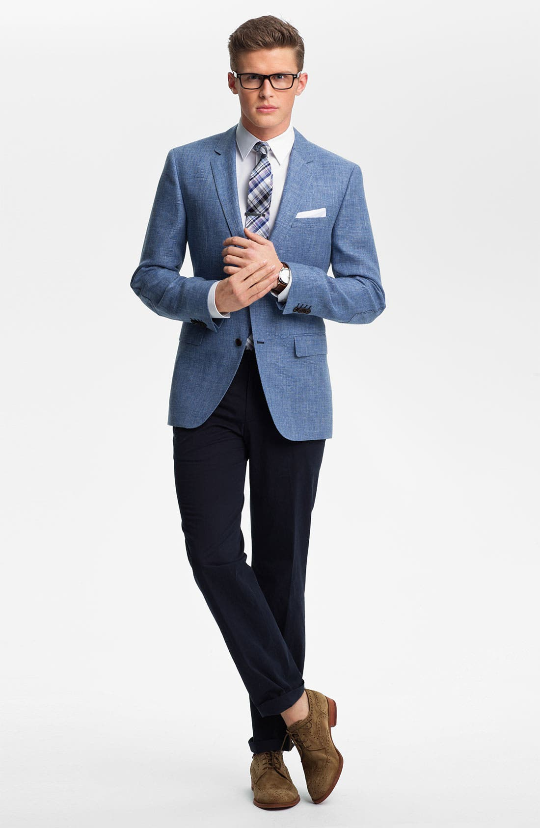 Alternate Image 5  - BOSS Black 'Smith' Trim Fit Sportcoat