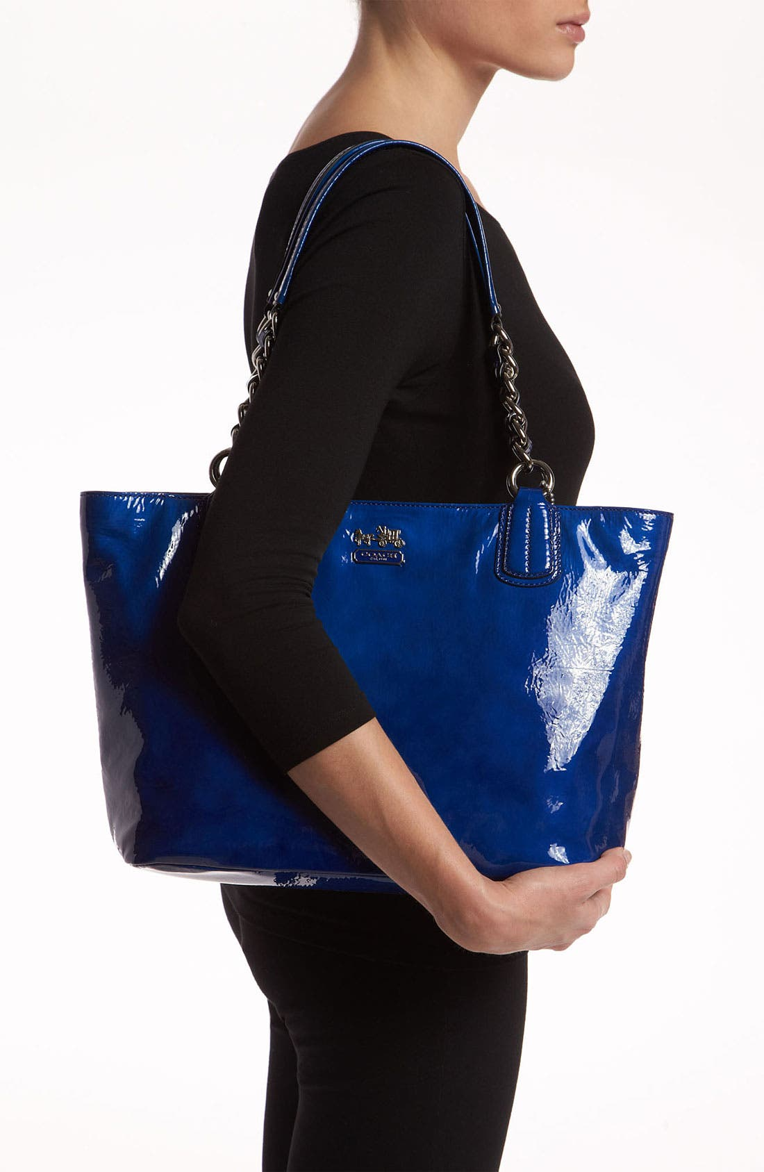 Alternate Image 2  - COACH 'Madison' Patent Leather Tote