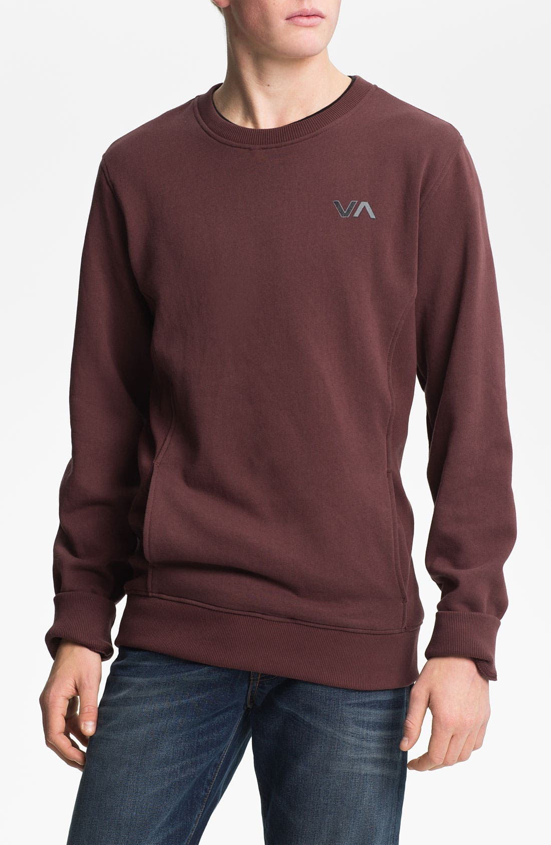 Main Image - RVCA Crewneck Sweatshirt