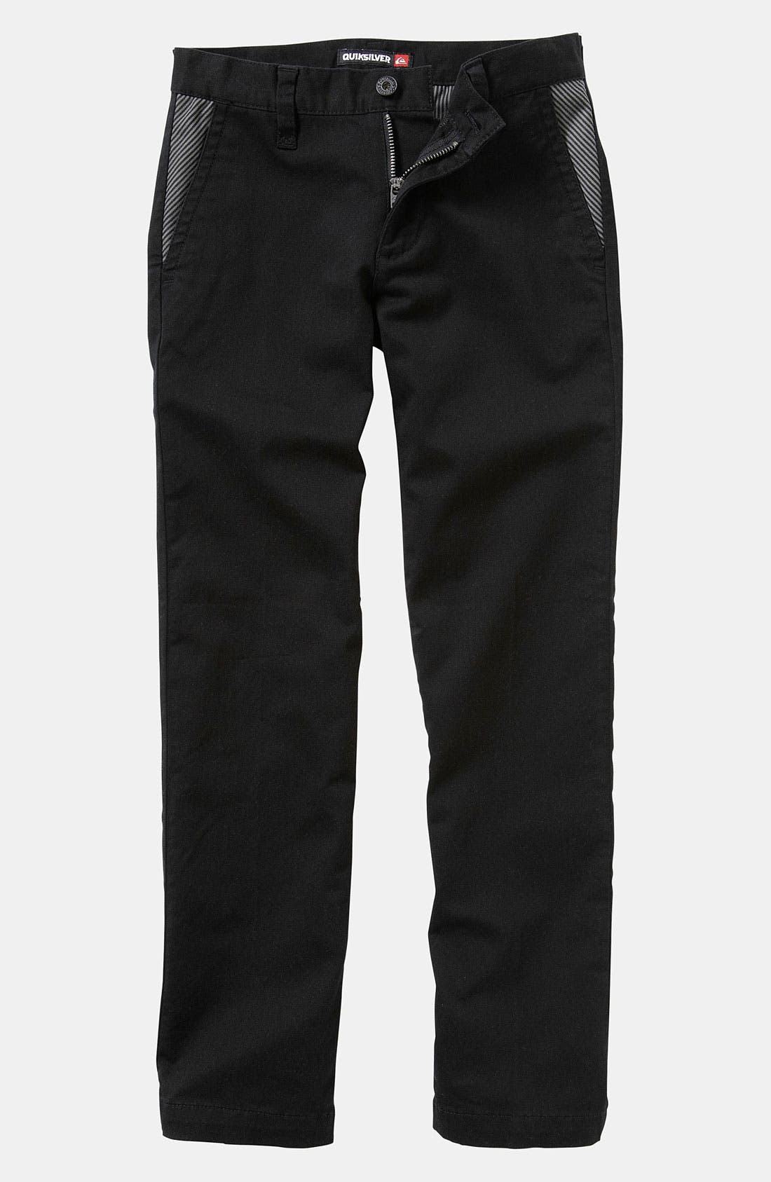 Alternate Image 1 Selected - Quiksilver 'Box Wire' Slim Straight Leg Chino Pants (Big Boys)