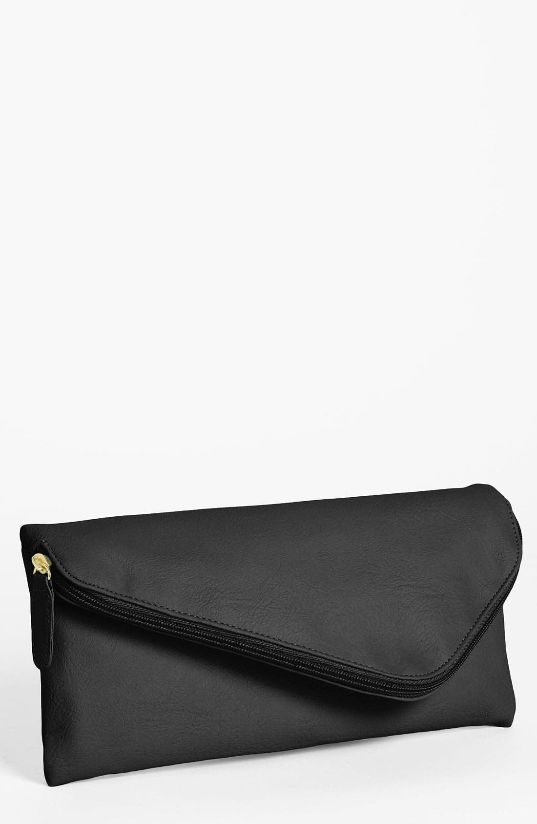 Alternate Image 1 Selected - Lulu Zip Top Envelope Clutch