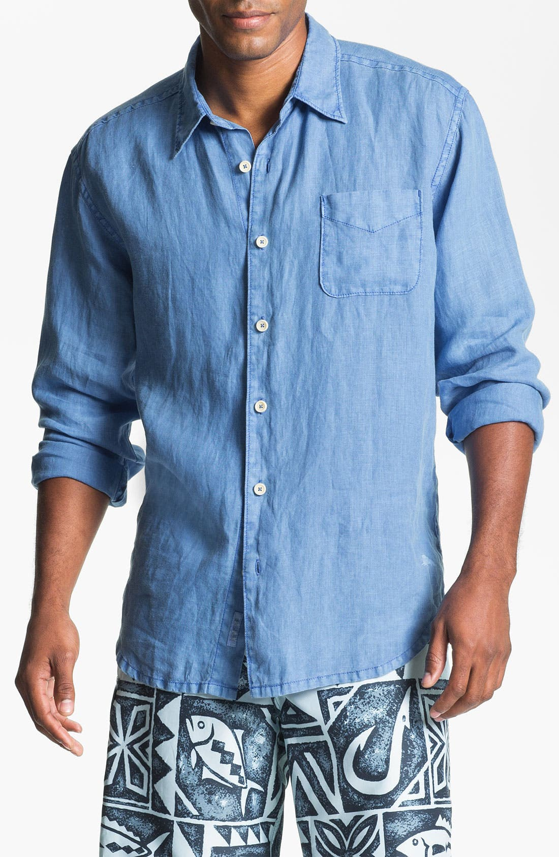 Alternate Image 1 Selected - Tommy Bahama Sport Shirt & Quiksilver Board Shorts