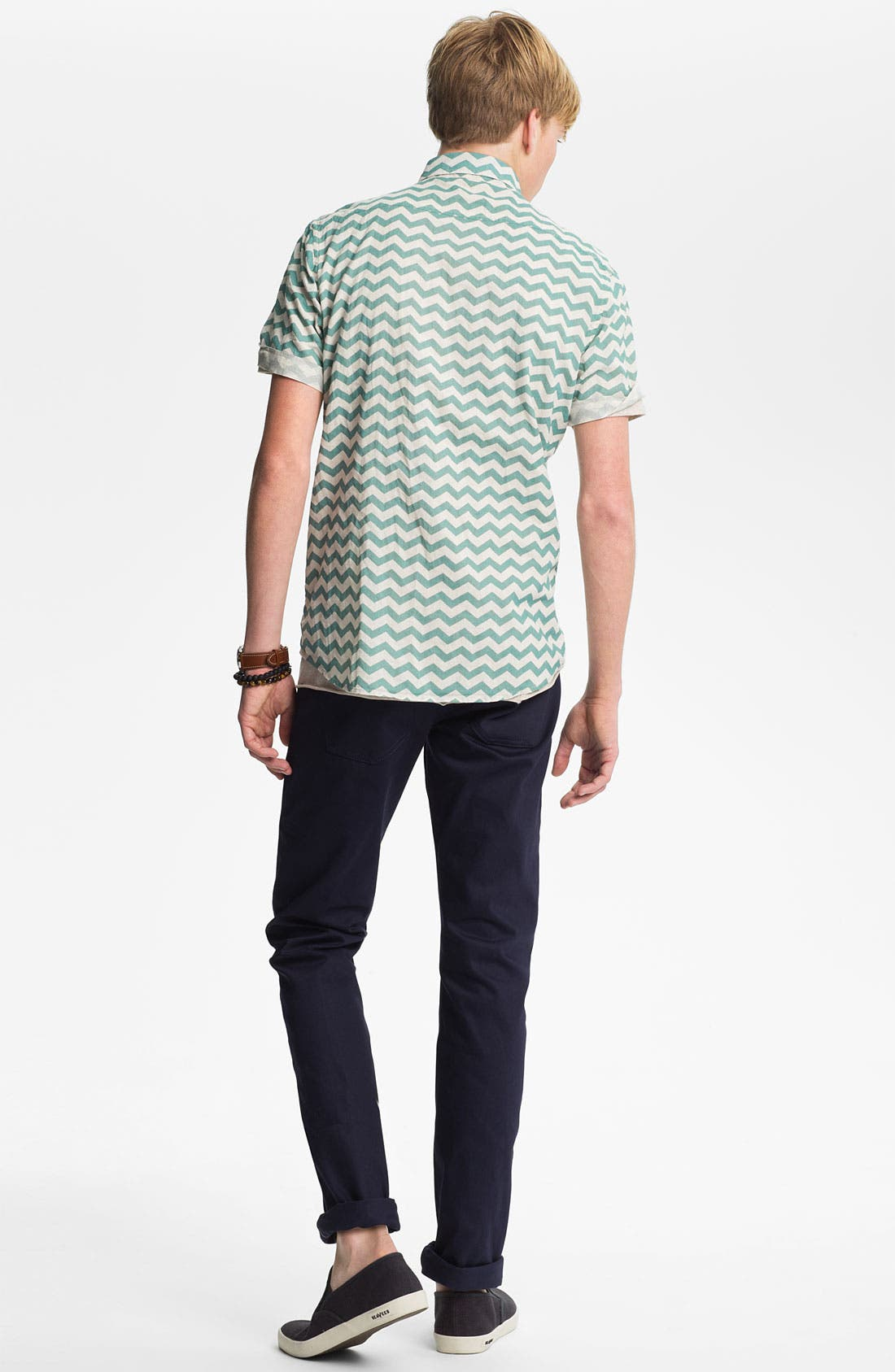 Alternate Image 5  - The Unbranded Brand 'UB108' Skinny Fit Selvedge Chinos (Online Exclusive)