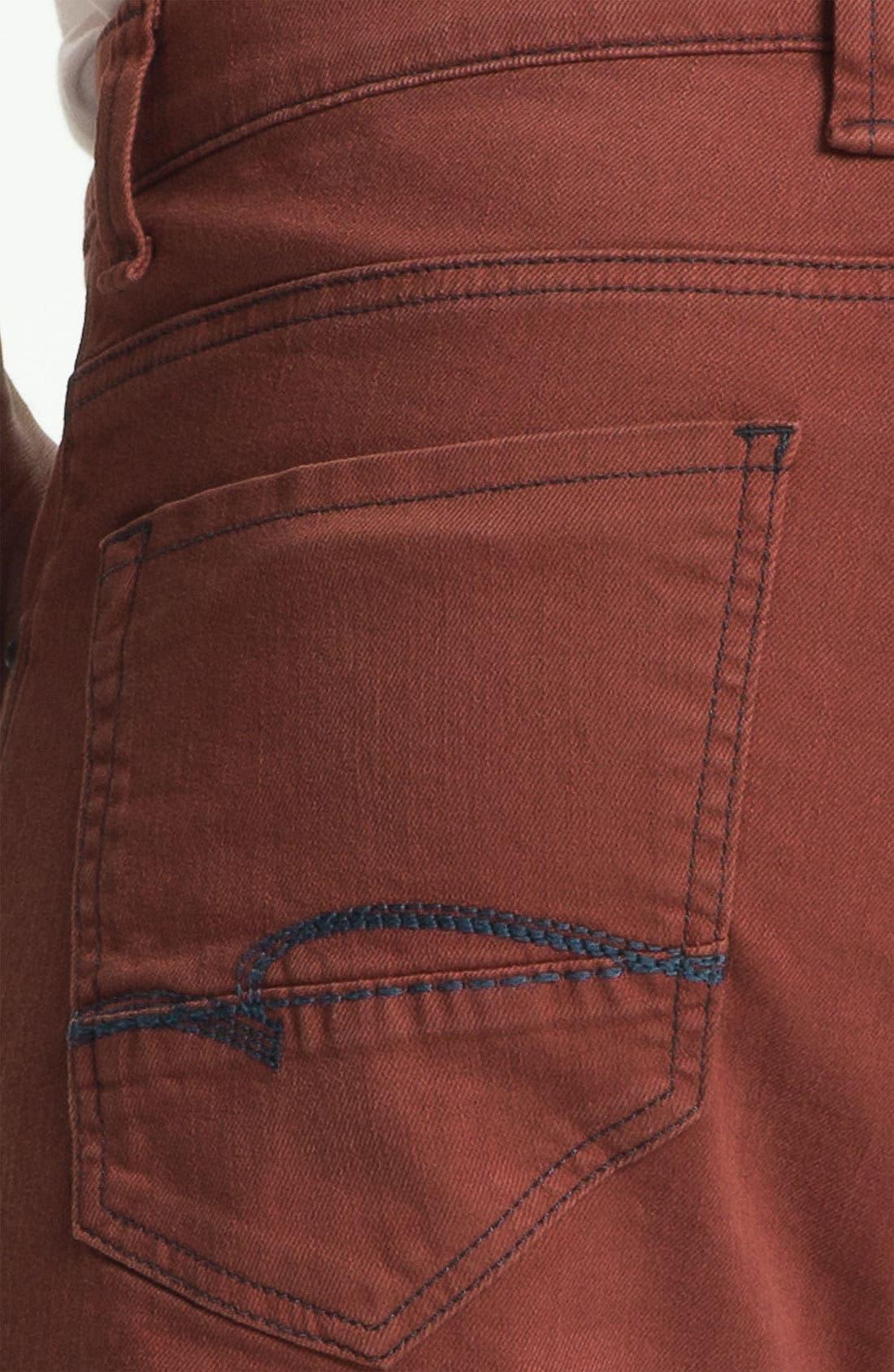 Alternate Image 4  - Mavi Jeans Slim Straight Leg Jeans (Rust)
