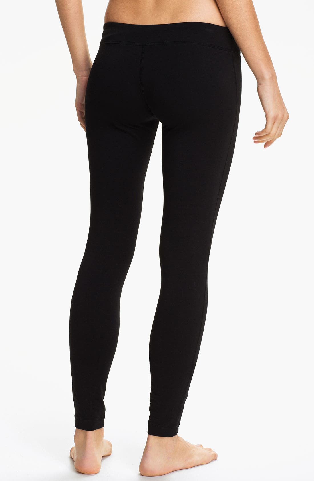 Alternate Image 2  - Unit-Y Stretch Cotton Leggings