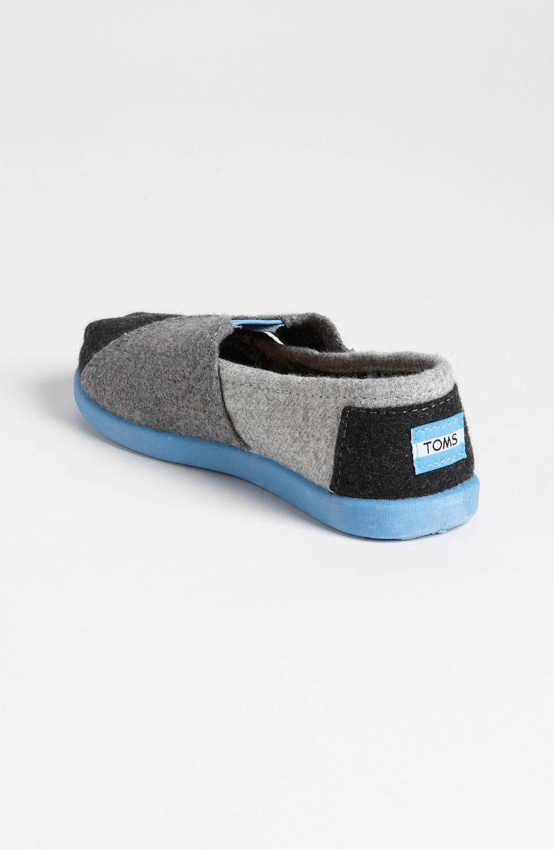Alternate Image 2  - TOMS 'Classic Tiny - Plaid Pop' Wool Slip-On (Baby, Walker & Toddler)