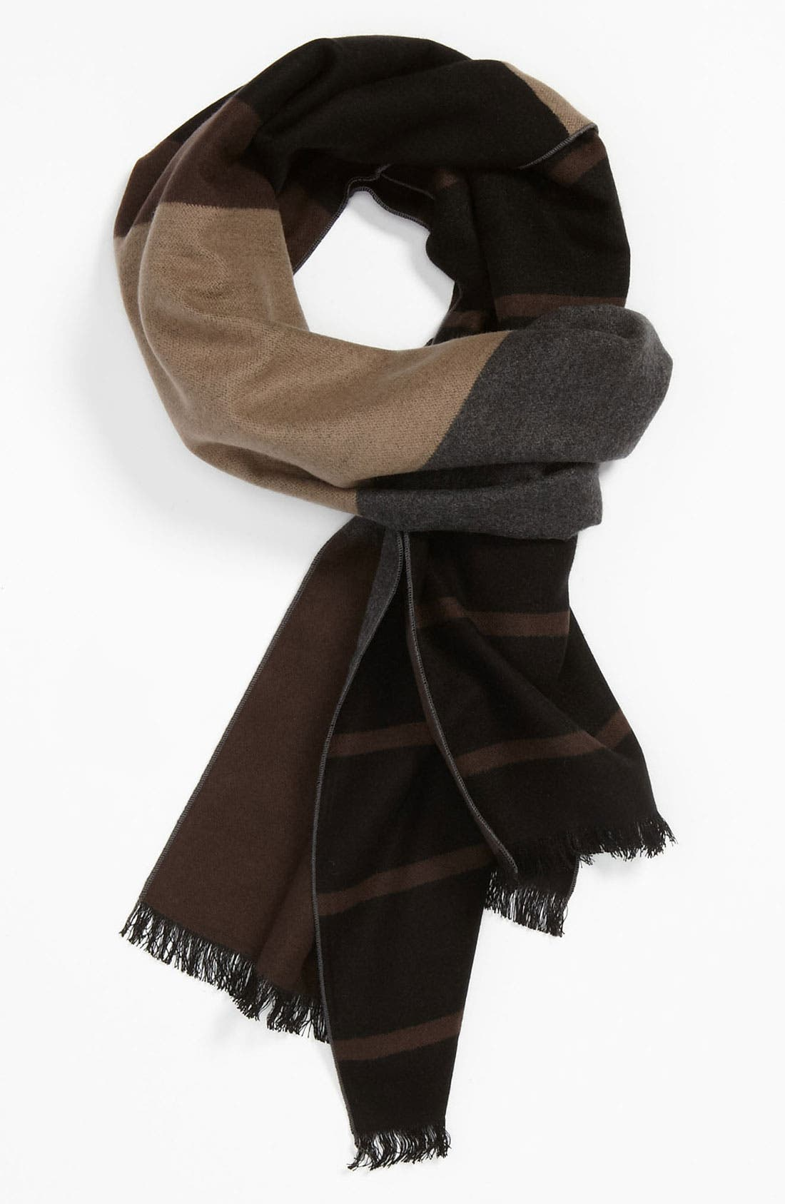 Alternate Image 1 Selected - Chelsey Colorblock Silk Scarf