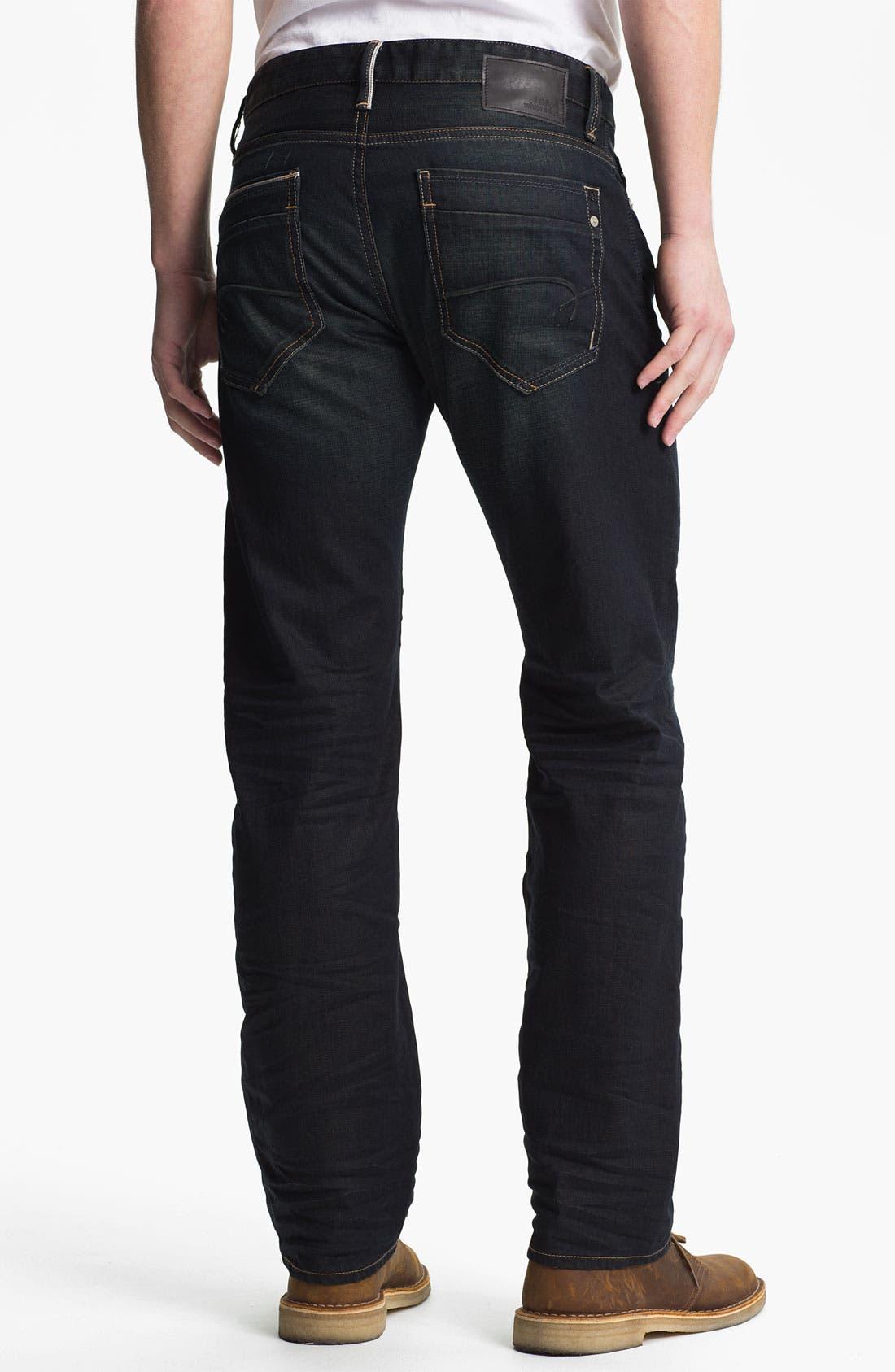 Alternate Image 1 Selected - Mavi Jeans 'Zach' Straight Leg Jeans (Smoke White Edge)