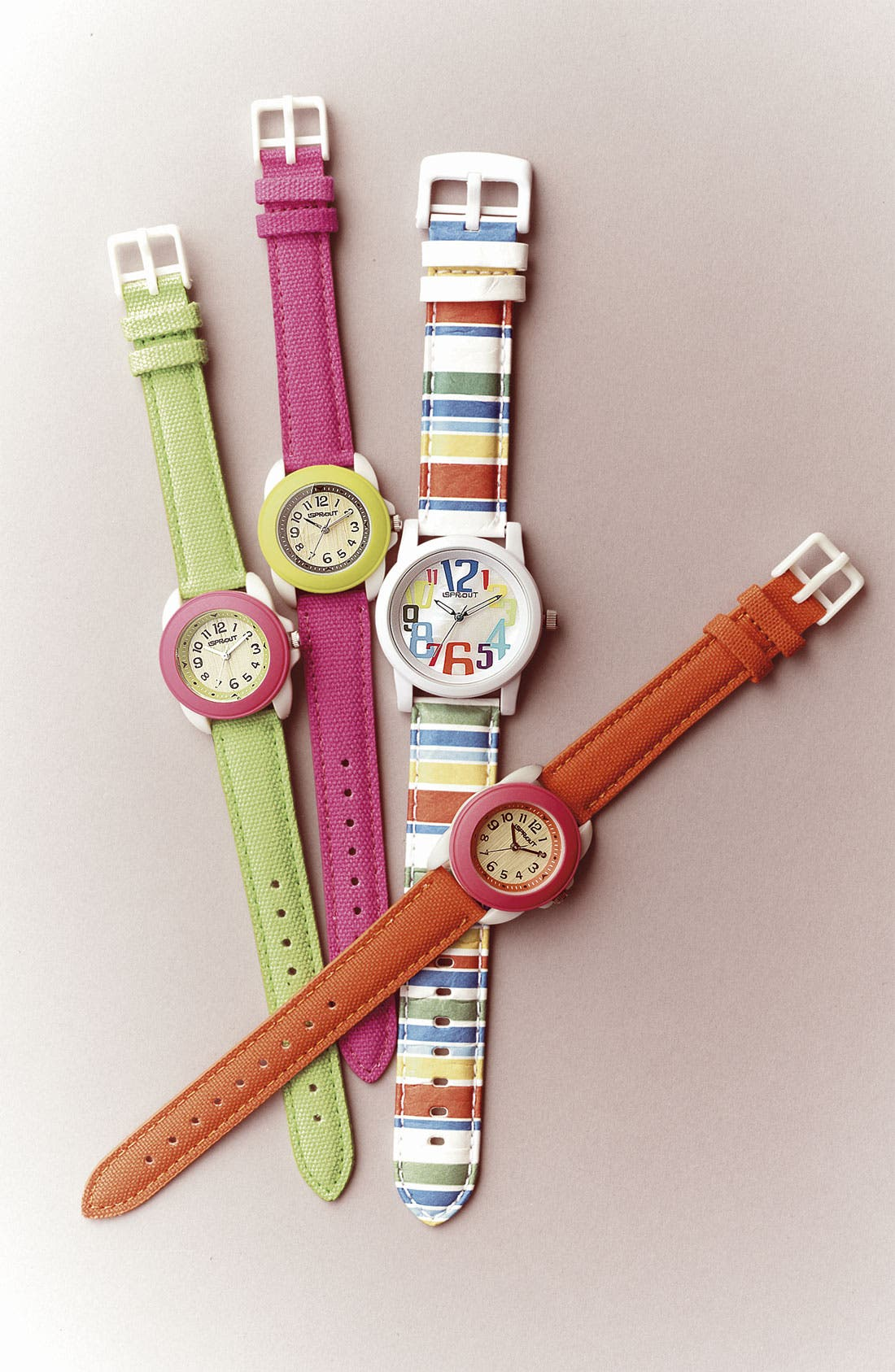 Alternate Image 2  - SPROUT™ Watches Round Organic Cotton Strap Watch, 22mm