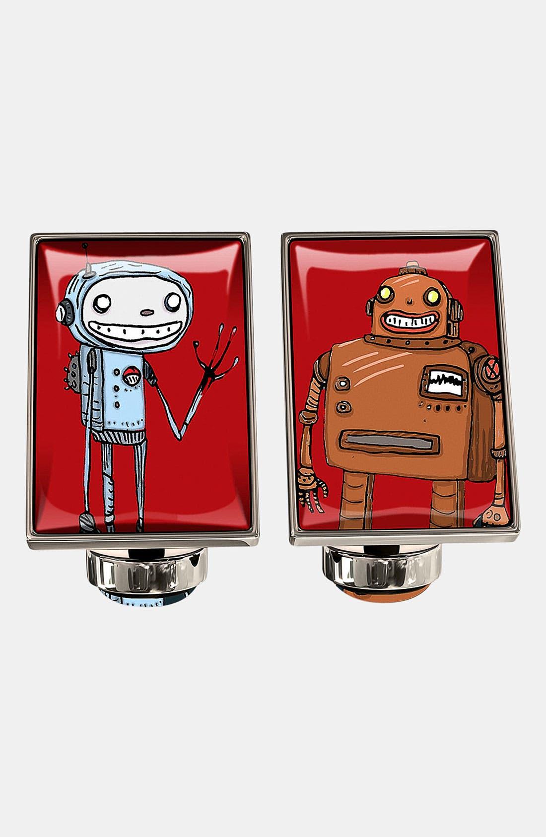 Main Image - Würkin Stiffs 'Hello in Robot' Rectangular Cuff Links