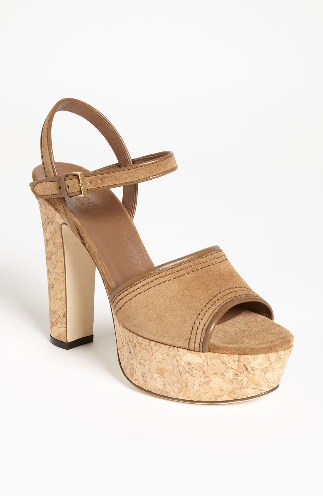 Alternate Image 1 Selected - Gucci 'Danielle' Platform Sandal