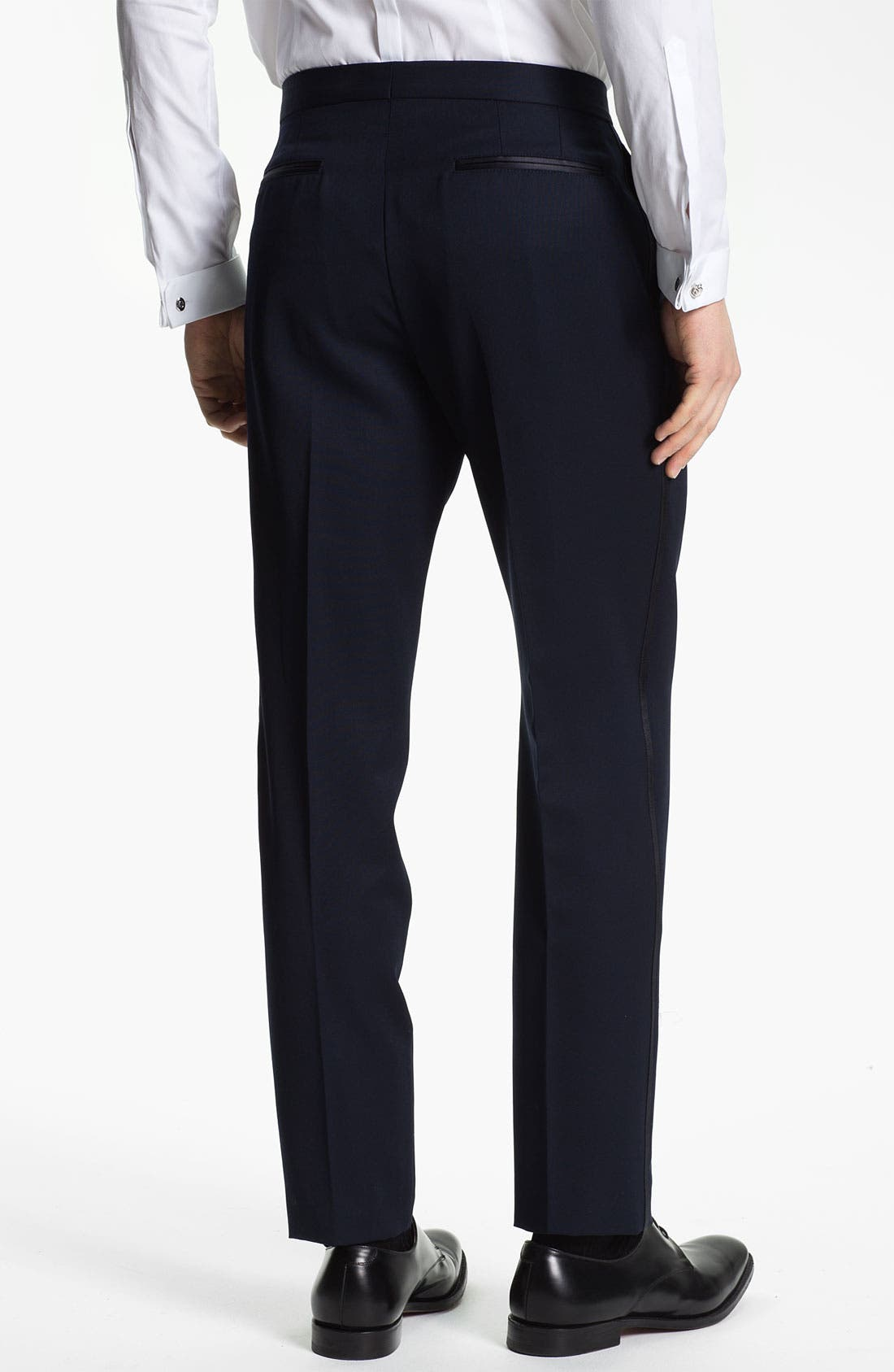 Alternate Image 2  - Burberry Prorsum Wool Tuxedo Pants