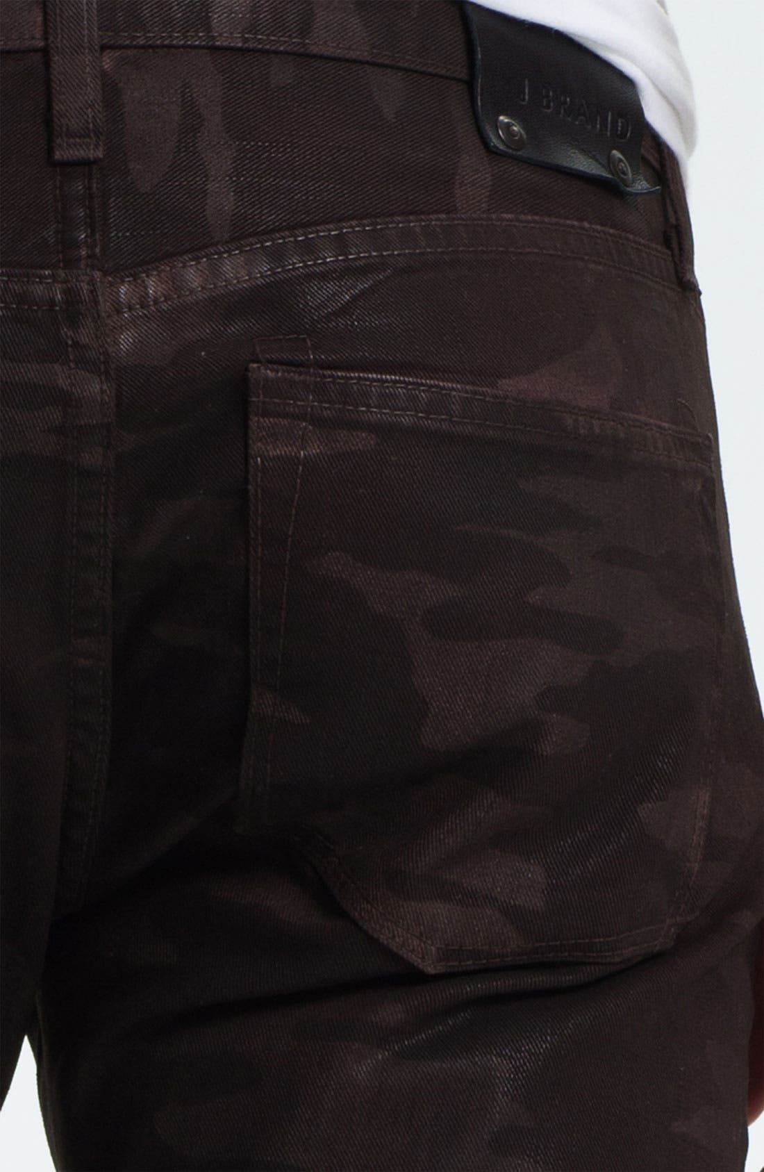 Alternate Image 4  - J Brand 'Tyler' Slim Straight Leg Jeans (Coated Wood Camo)