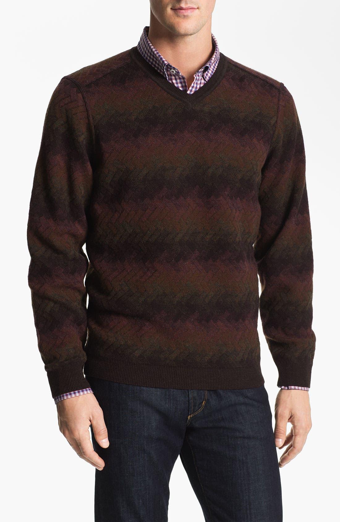 Alternate Image 1 Selected - Lenor Romano V-Neck Wool Sweater