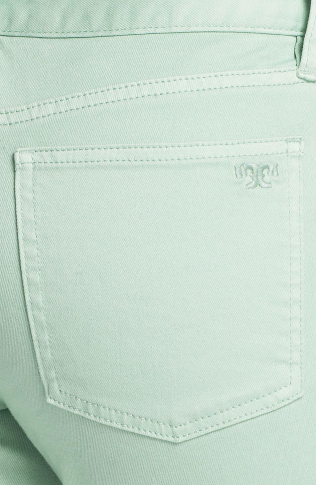 Alternate Image 3  - Tory Burch 'Alexa' Crop Skinny Stretch Jeans (Seaglass)