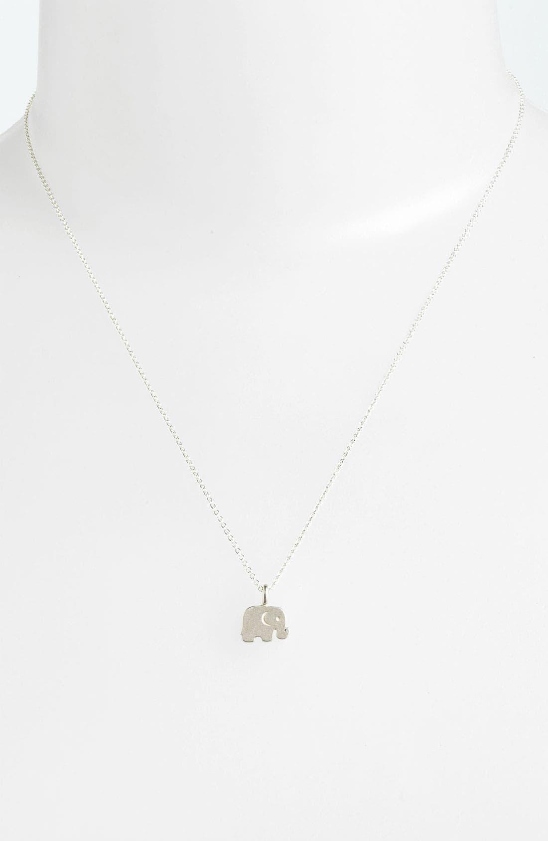 Alternate Image 2  - Dogeared 'Big Love for You' Elephant Pendant Necklace